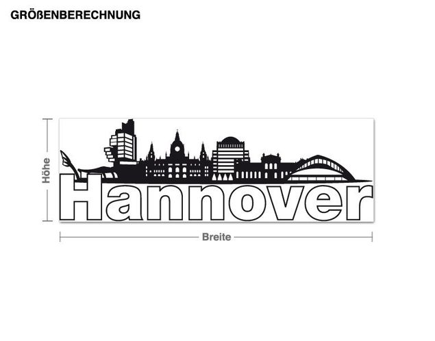 Wandtattoo Hannover-Skyline