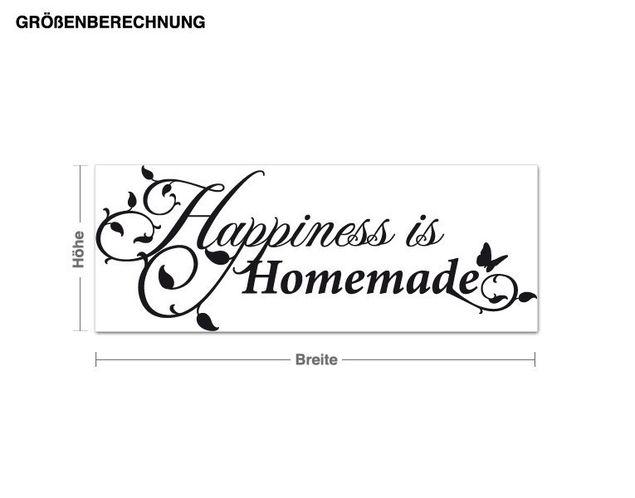 Wandtattoo Happiness is Homemade