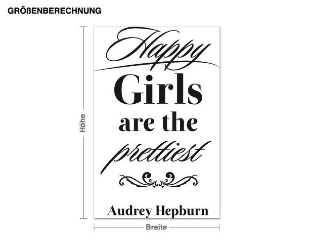 Wandtattoo Happy Girls