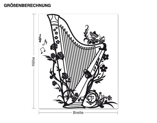 Wandtattoo Harfe