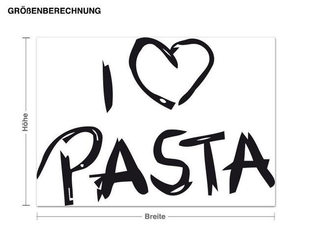 Wandtattoo I Love Pasta