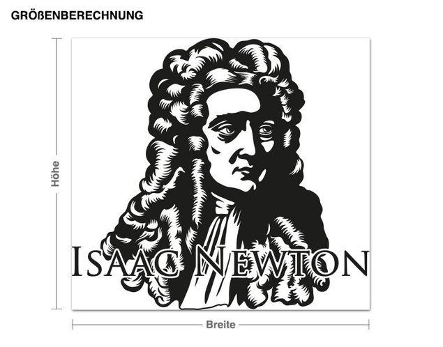 Wandtattoo Isac Newton
