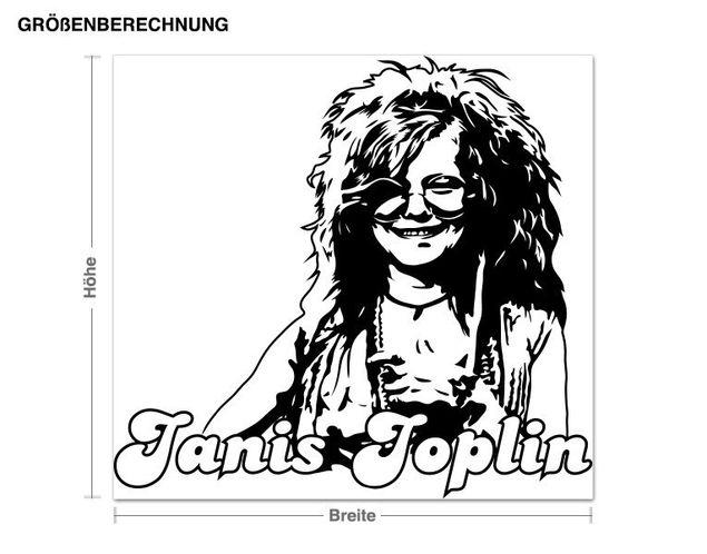 Wandtattoo Janis Joplin