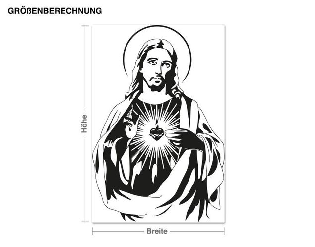 Wandtattoo Jesus