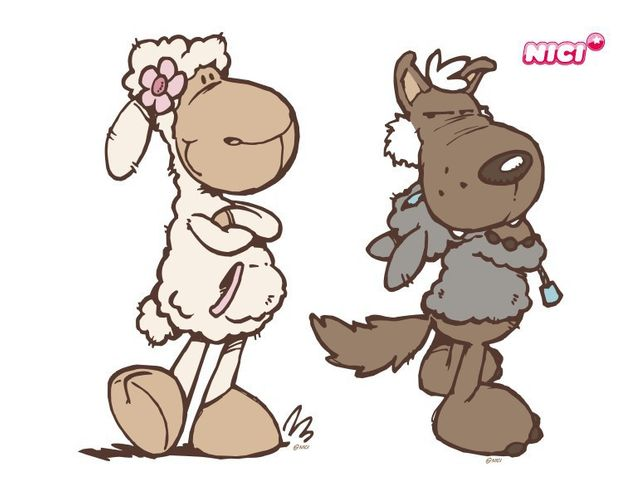 Wandtattoo Jolly Hugo & Rosa