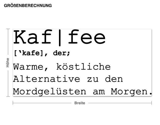 Wandtattoo Kaf I fee