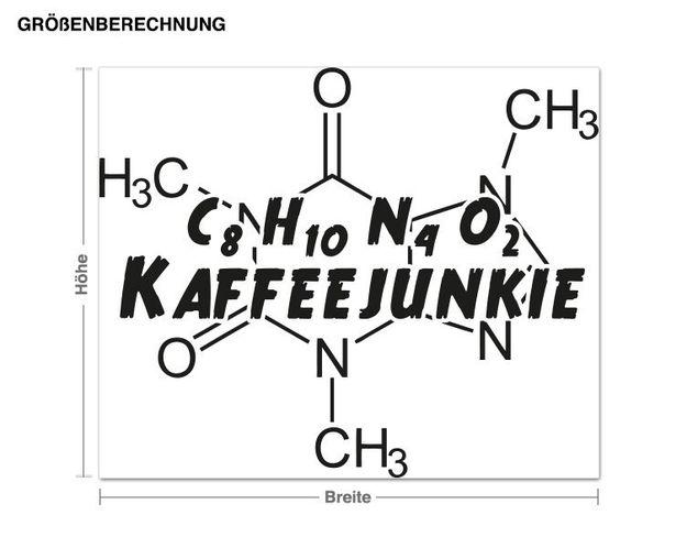 Wandtattoo Kaffee Junkie