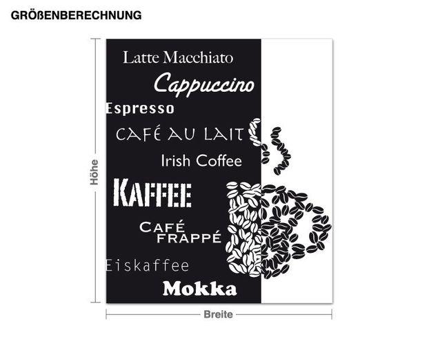 Wandtattoo Kaffee-Kunst