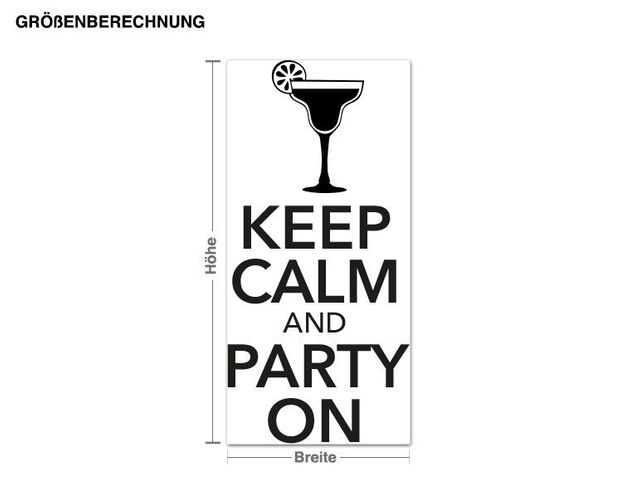 Wandtattoo Keep Calm Party