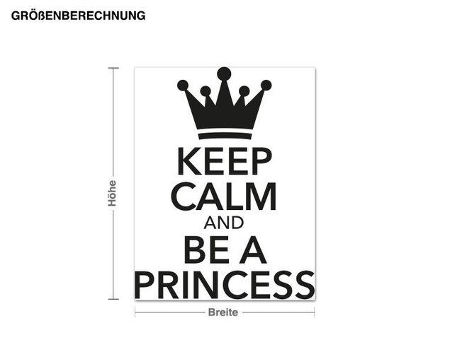 Wandtattoo Keep Calm Princess