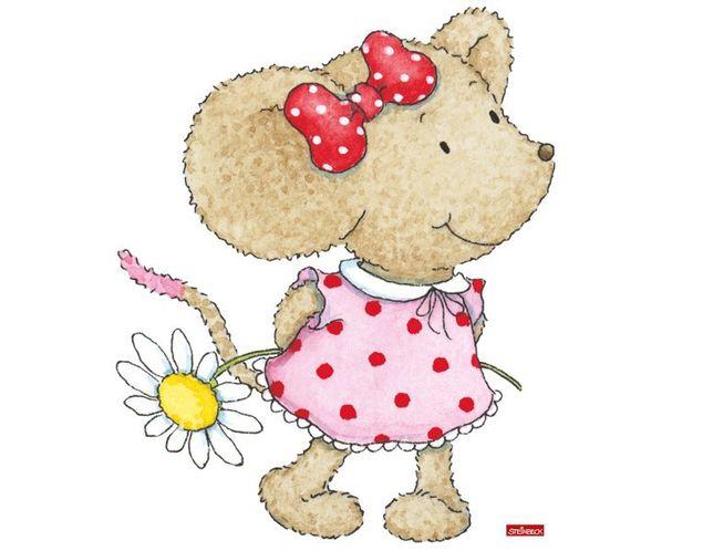 Wandtattoo Kikibell mit Gänseblümchen
