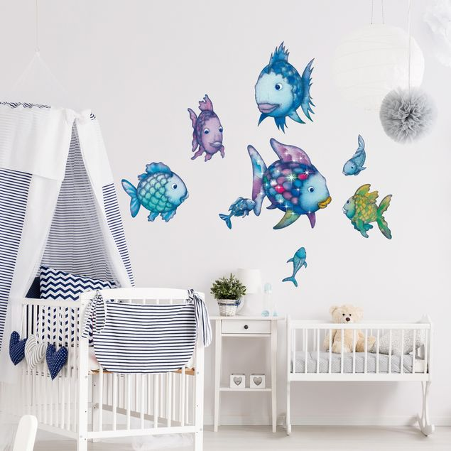 wandtattoo kinderzimmer der regenbogenfisch unterwasserparadies sticker set. Black Bedroom Furniture Sets. Home Design Ideas