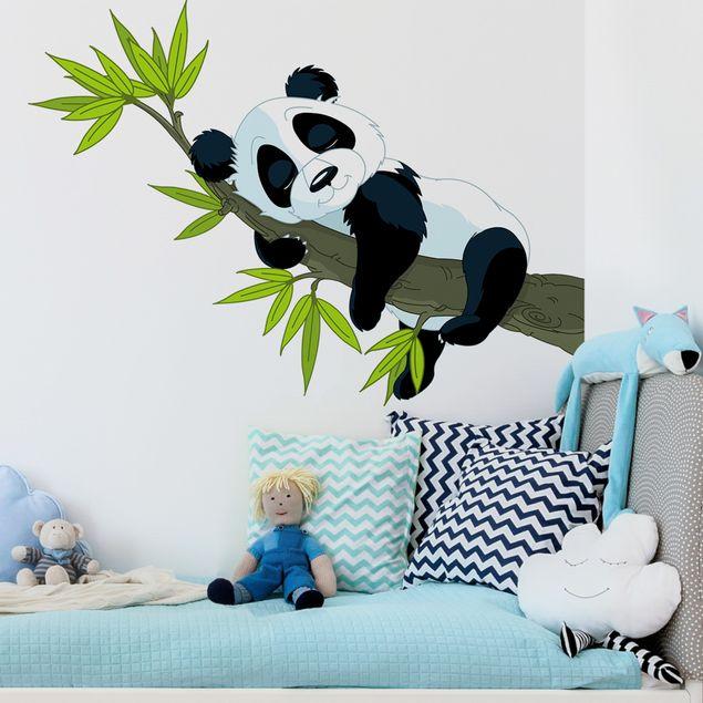 Wandtattoo Kinderzimmer Schlafender Panda