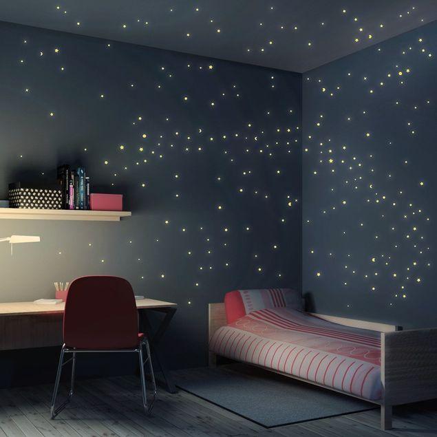 Wandtattoo Kinderzimmer Sternenhimmel 250er Set