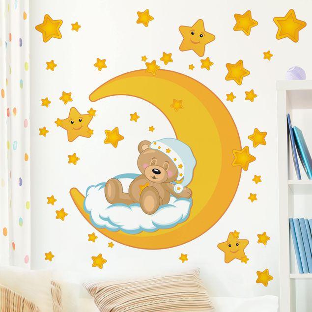 Wandtattoo Kinderzimmer Teddys Sternenhimmel