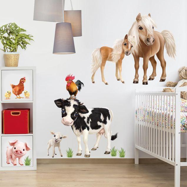 Wandtattoo Animal Club International Tiere Auf Dem Bauernhof Set Bilderwelten De