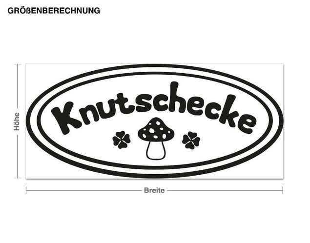Wandtattoo Knutschecke