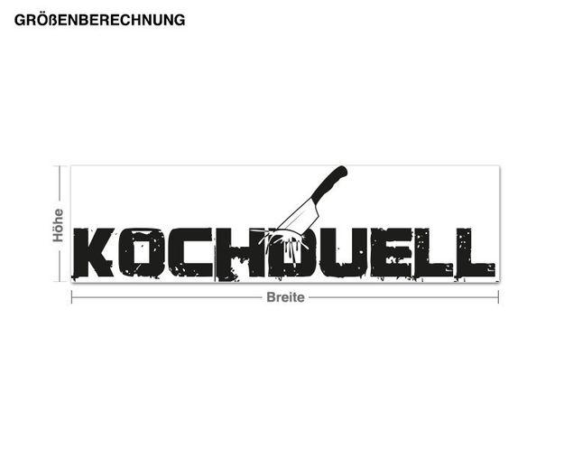 Wandtattoo Kochduell
