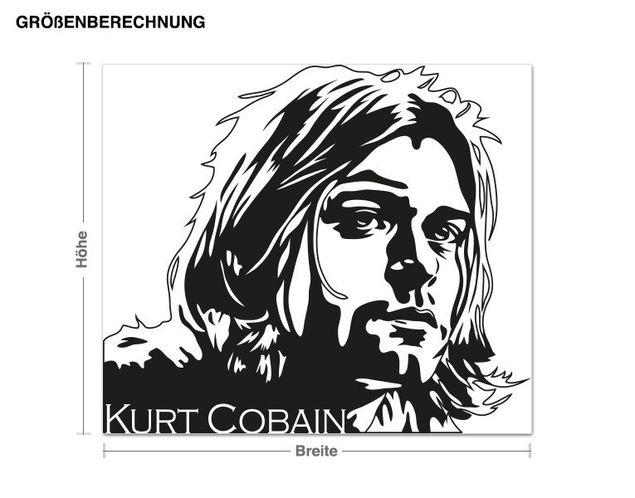 Wandtattoo Kurt Cobain Portrait