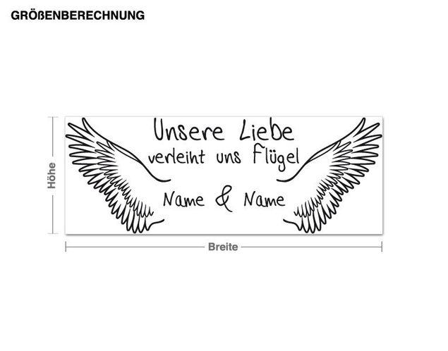 Wandtattoo Liebe verleiht Flügel