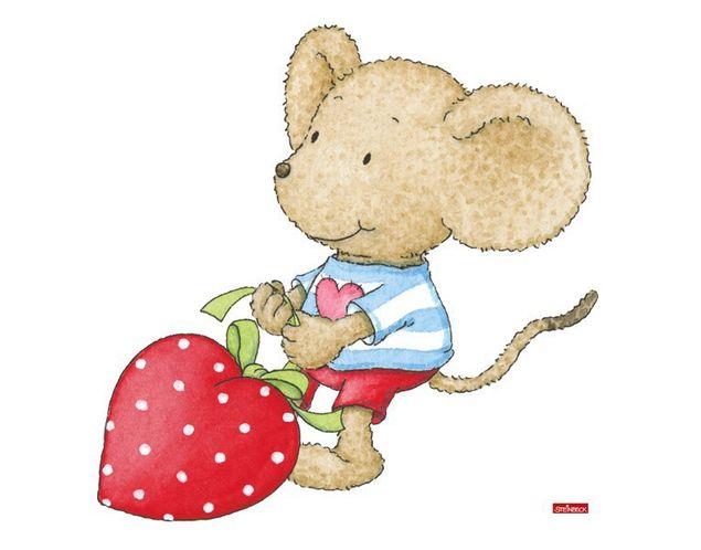 Wandtattoo Lillebi mit Herzchenkissen