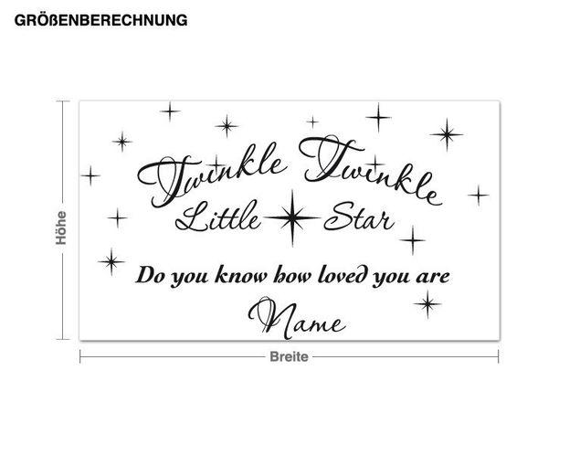 Wandtattoo Little Star