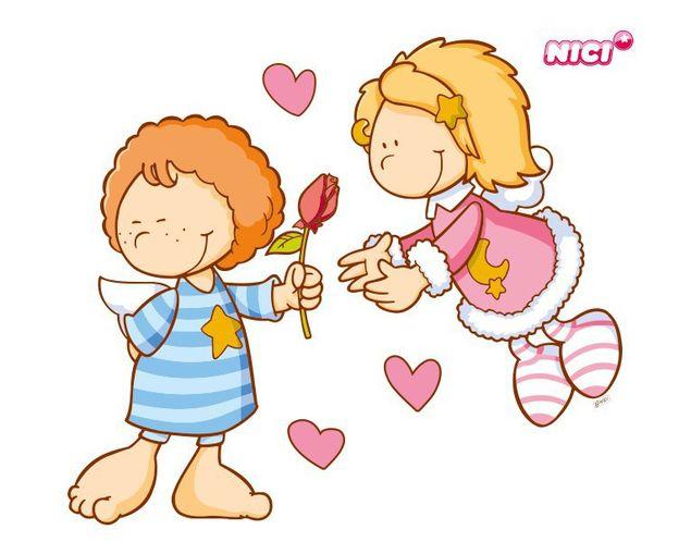 Wandtattoo Little Wingels Emily & Leon