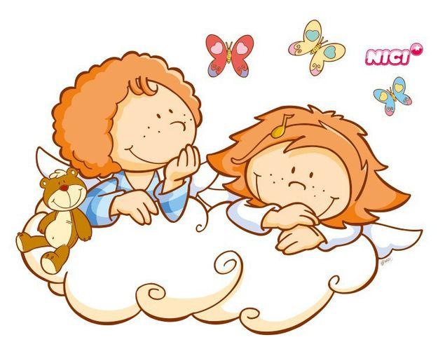 Wandtattoo Little Wingels Lea & Leon