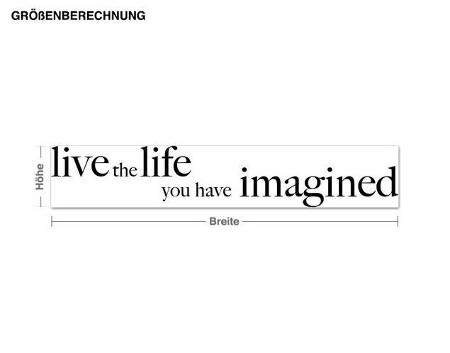 Wandtattoo Live the Life