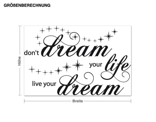 Wandtattoo Live Your Dream
