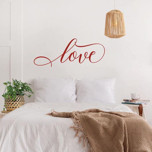 Wandtattoo - love cursive