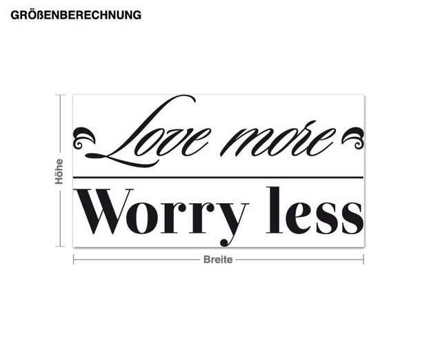 Wandtattoo Love more
