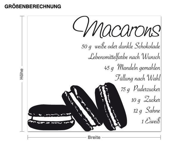 Wandtattoo Macarons