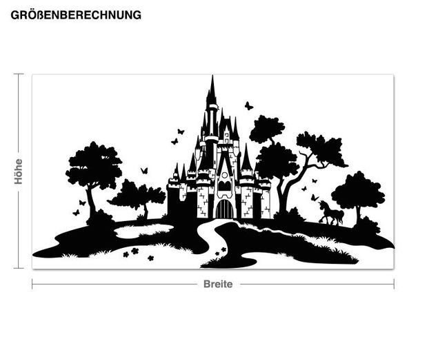 Wandtattoo Märchenlandschaft