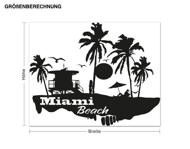 Wandtattoo Miami Beach