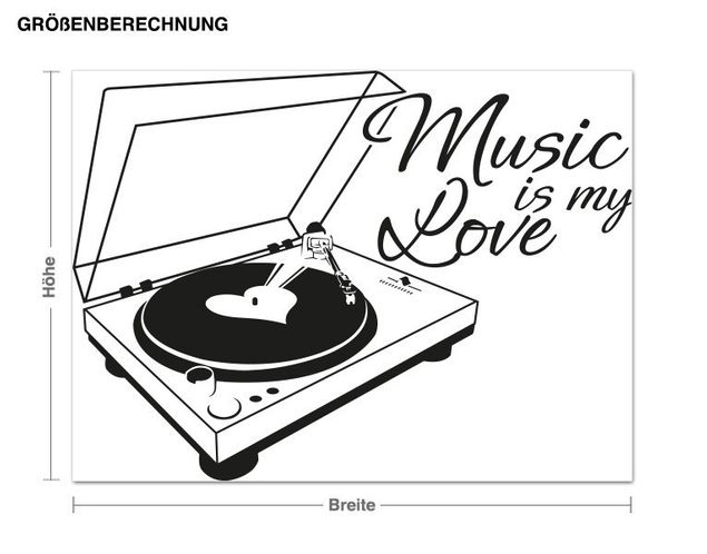 Wandtattoo Music is my Love