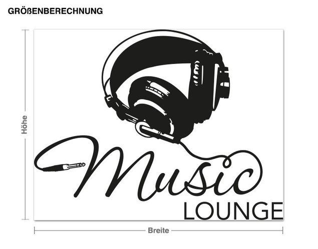 Wandtattoo Music Lounge