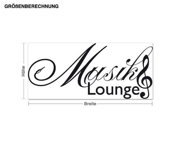 Wandtattoo Musik Lounge
