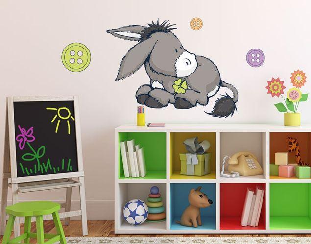 Wandtattoo Neugieriger Donkey