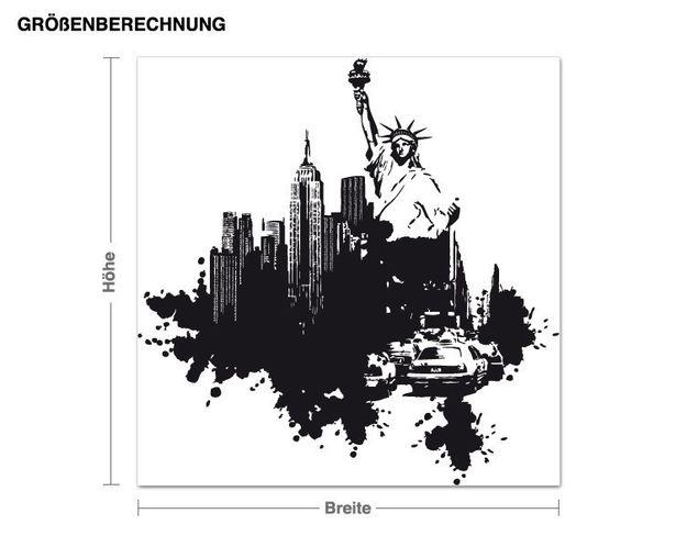 Wandtattoo New York Streetart