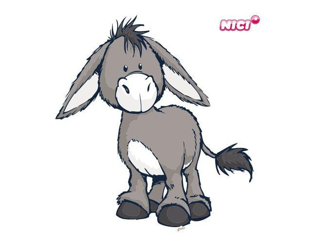 Wandtattoo Donkey stehend