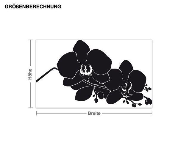 Wandtattoo Orchideenzweig