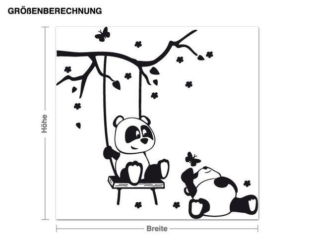 Wandtattoo Pandafreunde