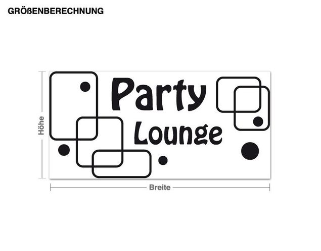 Wandtattoo Party Lounge