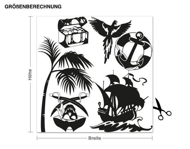 Wandtattoo Piraten Set