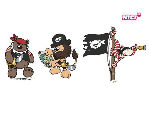 Wandtattoo Pirates