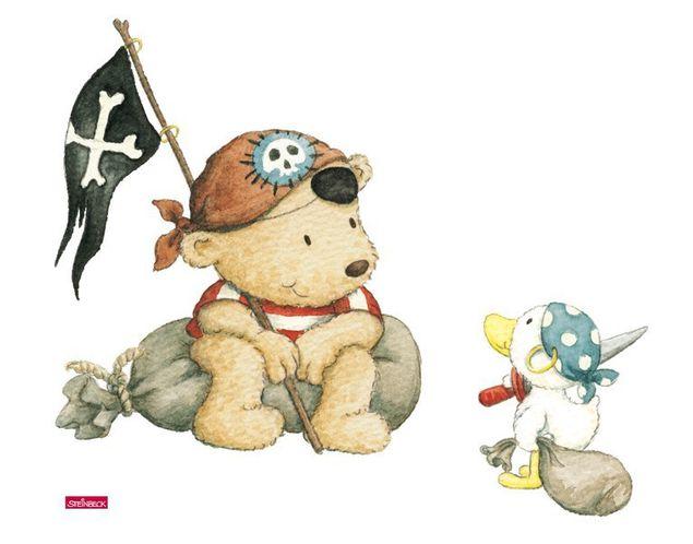 Wandtattoo Pitzelpatz und Schnaddeldatz als Pirat