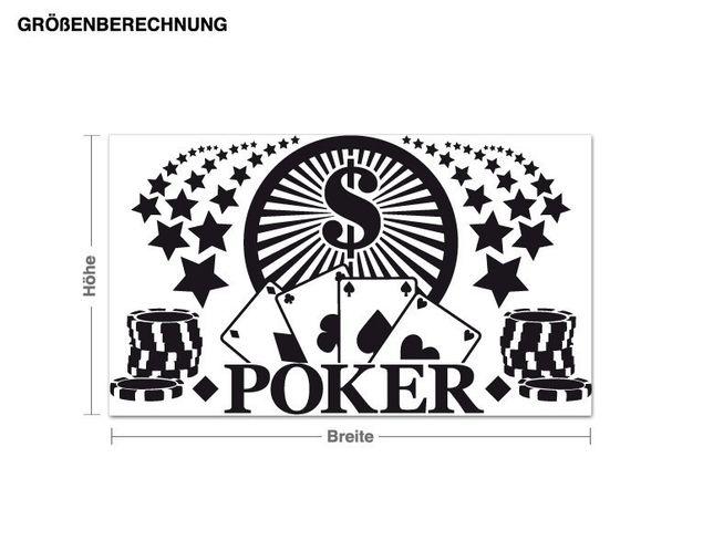 Wandtattoo Pokern