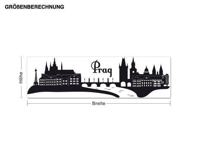 Wandtattoo Prag