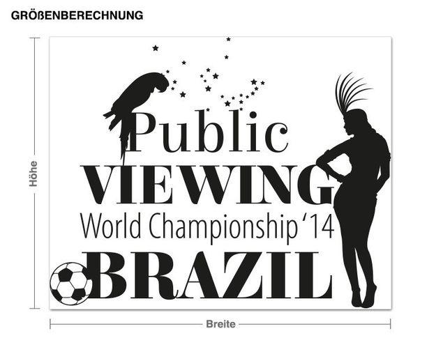 Wandtattoo Public Viewing